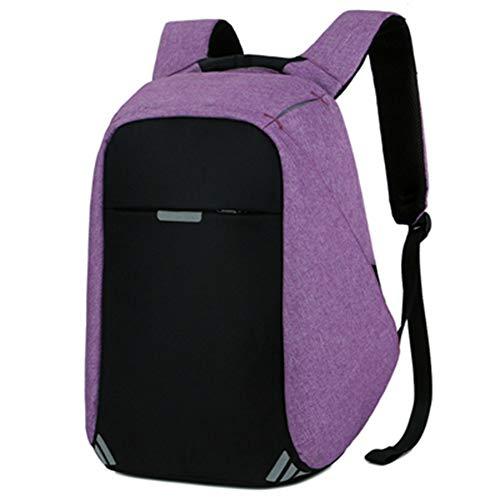 ordinateur Loisirs dos Femmes Anti pour Sac à Adolescent dos VHVCX Thief portable hommes à Mode dos à Purple Mochila Homme Charge 15inch Voyage pour Usb Sac qzxfwBU