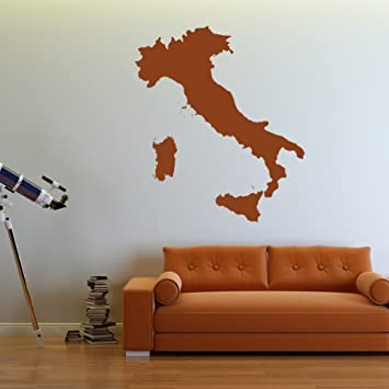 Amazon italy silhouette map country rest of the world wall italy silhouette map country rest of the world wall sticker home decor art decal available in gumiabroncs Choice Image
