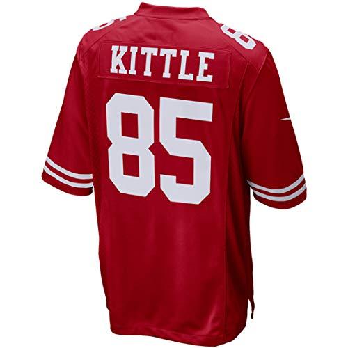 - Intuit Fast Mens George_Kittle_85_Scarlet Fans Replica Jersey Sportswear Custom Football Game Limited Elite Legend Jerseys