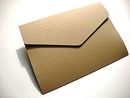 A5/C5 Wedding Wonders cartera invitaciones, Eco Kraft reciclado 280 gsm con sobres por