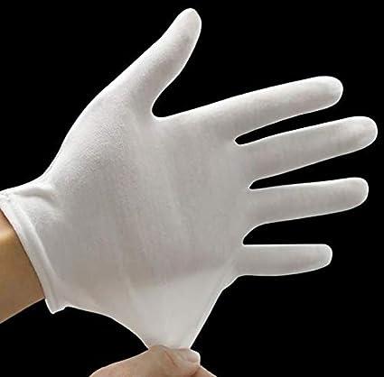 Kitchen-dream 15 Pares de Guantes de algodón Blanco, algodón de Mano Suave Talla L, Guantes de Tela Blancos, Guantes de algodón, Guantes médicos de algodón 100%: Amazon.es: Belleza