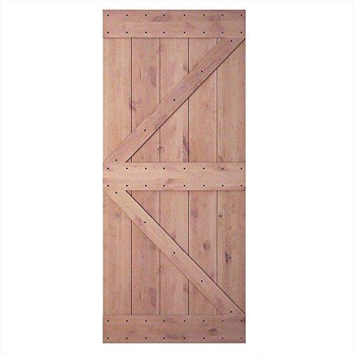 ine Knotty Sliding Barn Wood Door Slab Two-Side Arrow Shape Barn Door Slab (Unfinished) ()