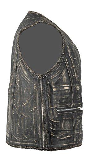 Vintage Lederweste aus Rindsleder (M)