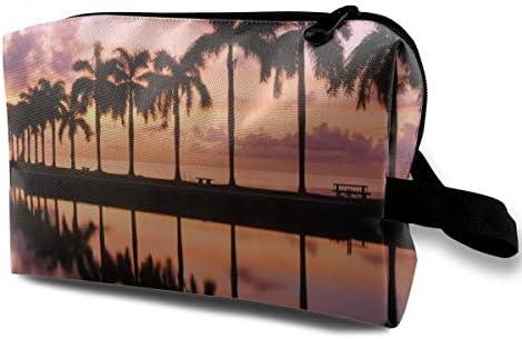 Estuche de cosméticos para mujer, Sunrise At Cutler Bay, cerca de Miami, Florida Estuche para lápices Beauty And The Beach: Amazon.es: Belleza