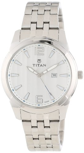 Titan Men's 9383SM01 Regalia Date Function and Luminous Hands and Markers Watch