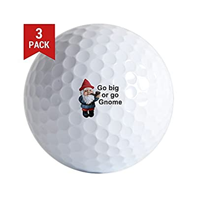 CafePress - Go Big Or Go Gnome - Golf Balls (3-Pack), Unique Printed Golf Balls