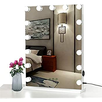 Amazon Com Lighted Makeup Mirror With 12 Dimmable Led