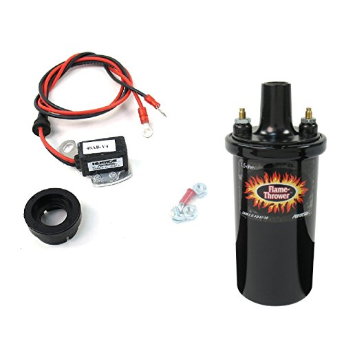 Electronic Ignition Pertronix (Pertronix 1281/40011 Ignitor & Flame-Thrower - 40,000 Volts 1.5 Ohm Coil Kit for Ford 8 Cylinder)