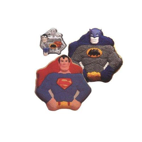 Wilton Super Heroes Batman / Superman Cake Pan (502-1212, 1977) DC Comics