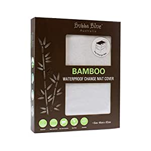 Bubba Blue Bamboo Waterproof Change Mat Cover, White