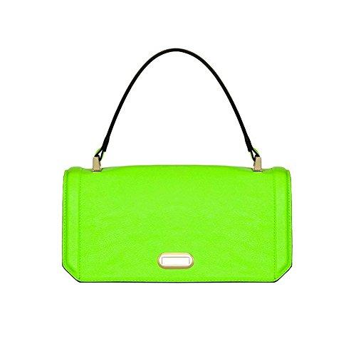 Numeroventidue - Bolso al hombro para hombre verde Fluo Green