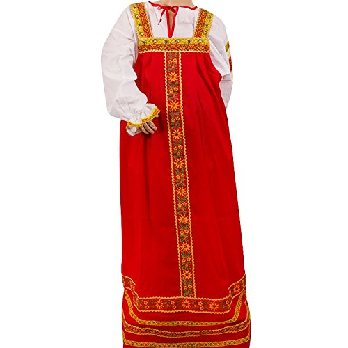 National Russian Costumes (Dashenka Sundress and Blouse Set (Red) by Bestadvantage)