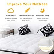 "Stark Item 4"" Queen Size Mattress Topper Hypoallergenic Microfiber Down Alternative Pad"