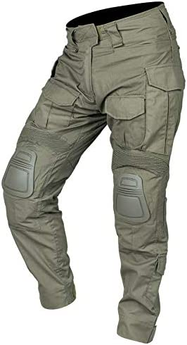 IDOGEAR G3 Combat Pants with Knee Pads Multicam Tactical Pant Rip-Stop Trousers