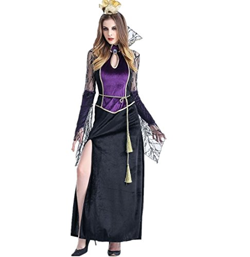 Bewitching Enchantress Costumes (Highpot Womens Sexy Vampire Witch Dress Halloween Adult Cosplay Party Costume (XL))