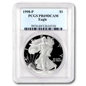 1998-P (PROOF) Silver American Eagle - PR-69 DCAM PCGS