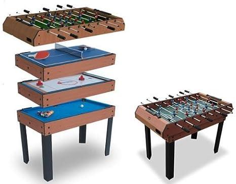 (Billar, Futbolín, Air hockey, Ping Pong)  mesa multijuegos