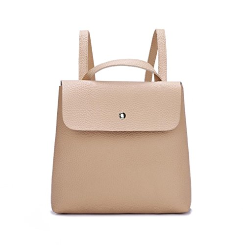 Ladies Ba Backpack School Shoulder Purse Girls Handle Pure Messenger Bag Women Leather Khaki Bag Bags Bags Fashion Zero Girl Satchels Travel Color Soft Bag Handbags Bag Fashion Zha Mini Backpack AHwdxqzH