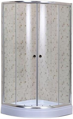 Mampara de ducha tipo cabina, 80 x 80 cm, semicircular angular con cristal de 5 mm: Amazon.es: Hogar
