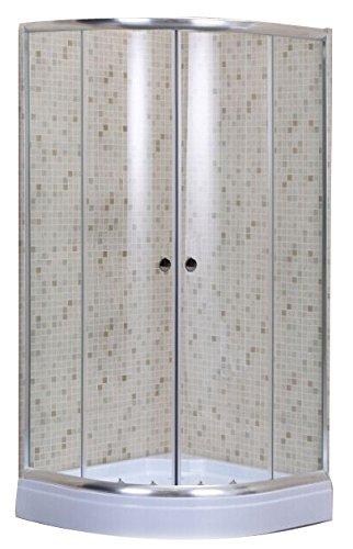 CABINA BOX DOCCIA ALBATROS 80X80 SEMICIRCOLARE ANGOLARE CRISTALLO MM.5 FGDLC