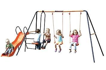 Amazon Com Childrens Hedstrom Double Swing Glider Wavy Chute