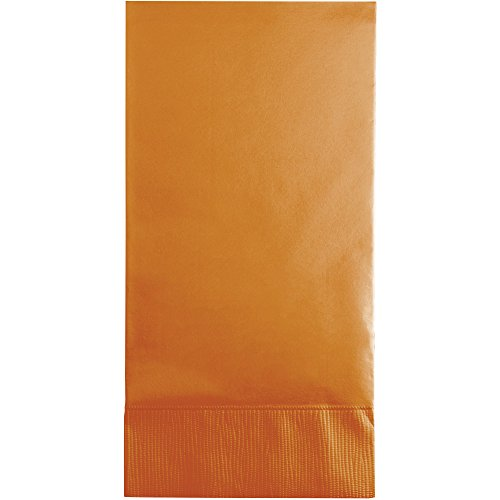 Creative Converting 192 Count Touch of Color Paper Guest Napkins, 3-Ply, Pumpkin Spice