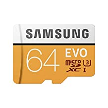 Samsung MB-MP64GA EVO 64GB U3 Micro SD Memory Card with Adapter (2017 Model)