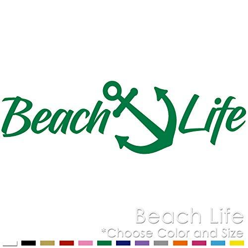 Beach Life Yacht Anchor Sand Vinyl Decal Sticker (BL-03)