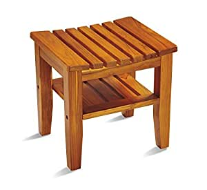 Amazon Com Conair Home Solid Teak Spa Bench Traditional