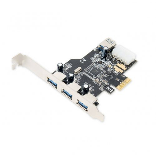 Syba SD-PEX20080 SD-PEX20080 USB 3.0 3x External & 1x Internal USB 3.0 Port PCI-Express Controller Card w HDD Power Connector & Low Profile Bracket by Syba