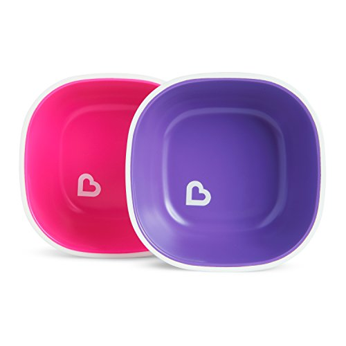 (Munchkin Splash Toddler Bowls 2 Piece Pink/Purple)