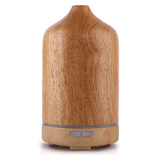Wool Pure Natura Baby (Bbymie Real Wood Aromatherapy Essential Oil Diffuser Stress Relief 100ML Bedroom Ultrasomic Electric Humidifier (Pale Brown) …)
