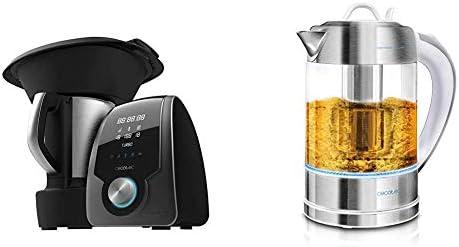 Cecotec Robot de Cocina Multifunción Mambo 7090 + Hervidor de Agua Eléctrico ThermoSense 370 Clear: Amazon.es: Hogar