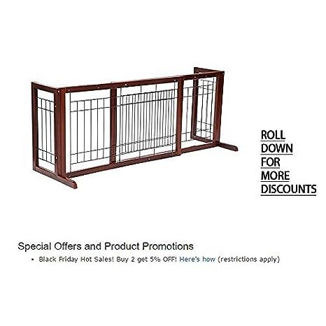 Amazon Com Topeakmart Adjustable Indoor Pet Fence Gate Free