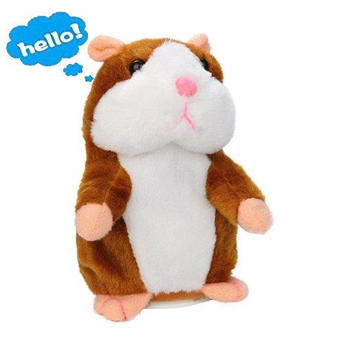 Lalagofe Peluche Parlante Talking Hamster Jouet adorable Interessant pet interactive en peluche avec sons jouets pour enfants 15 cm Cadeau Noël/ Anniversaire/ Grâces/Party (Kaki) product image