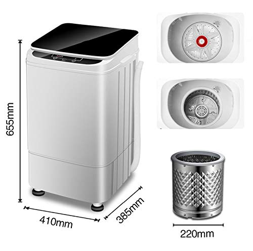 Xinrangxin Semi-Automatic Stainless Steel Portable Washing Machine, Compact Multi-Function Washing Machine, Suitable for Home, Dormitory and Other Scenes, Mini Small Pulsator Elution with Dry