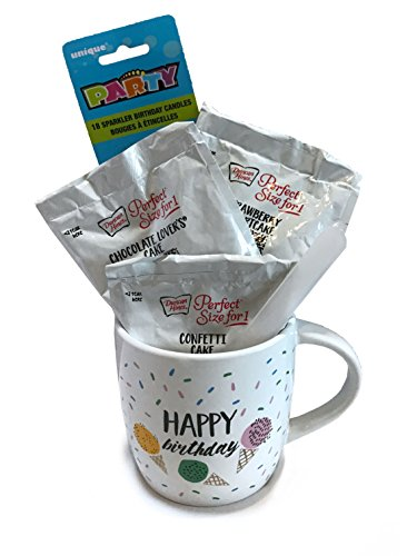 Birthday Bouquet Candy- Birthday Bouquet Edible- Happy Birthday Gift Tower (Happy Birthday Coffee Mug) (Edible Delivery Gifts)
