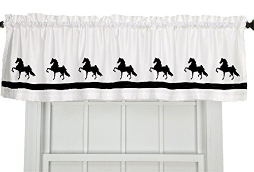 American Saddlebred Horse Window Valance Window Treatment – In Your Choice of Colors – Custom Made