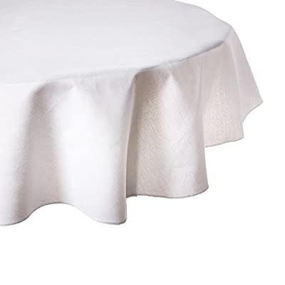 51 Inch Round Cotton-Feel Tablecloths - 51 in. diameter Seamless, one-piece design 100% Polyester (Dacron) - tablecloths, kitchen-dining-room-table-linens, kitchen-dining-room - 41fTkaIQ vL. SS400  -
