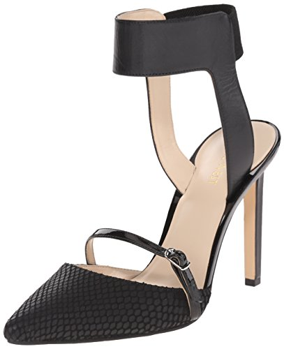 West Black Leather Slingback Pumps (Nine West Women's Tabia Leather Dress Pump, Black Multi Leather, 7 M US)