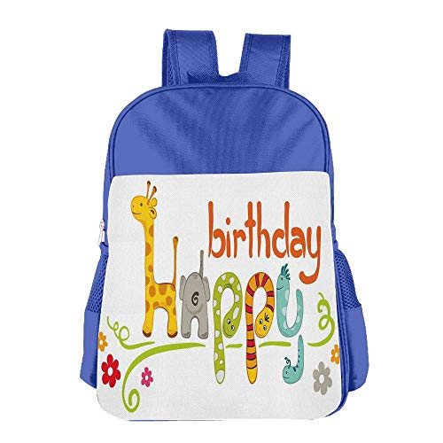 Haixia Kids Boys'&Girls' School Backpack Birthday Decorations for Kids Cartoon Animals Snakes Elephant with Floral Details Image -