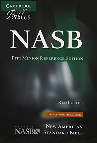 NASB Pitt Minion Reference Bible, Black Goatskin Leather, Red-letter Text, NS446:XR
