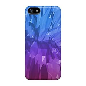 GoldenArea Snap On Hard Case Cover Abstract Blue Purple Protector For Iphone 5/5s