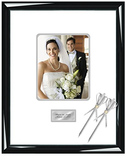 d22c6d6b86d Engraved Signature Wedding Picture Frame Guest Book Frame with Round Corner  8W x 10H Portrait Photo - Top ...