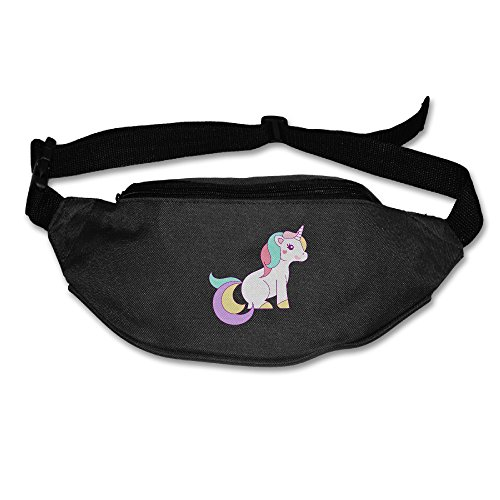 Free Unicorn Clipart Waist Bag Fanny Pack / Hip Pack Bum Bag For Man Women Sports Travel Running Hiking / Money IPhone 6 / 7 6S / 7S Plus Samsung S5 S6 ()