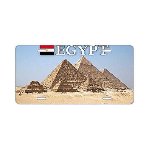 CafePress - et-pic-pyramids Aluminum License Plate - Aluminum License Plate, Front License Plate, Vanity Tag