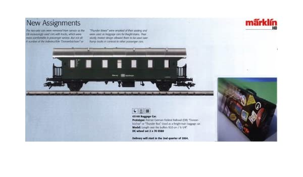 Märklin 43148 - Tren de Mercancías de equipaje Donner büchse, H0: Amazon.es: Juguetes y juegos
