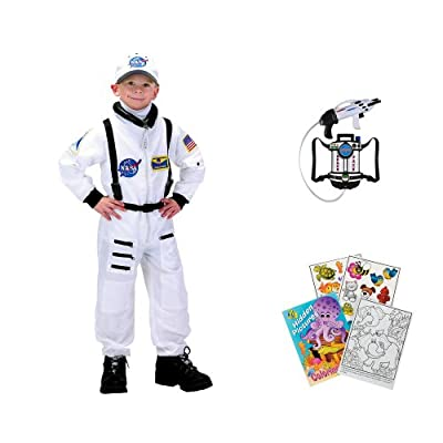 Aeromax Astronaut Suit Costume Ages 2 3 With Space Waterpack And