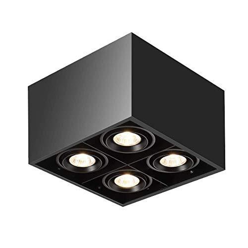 Moderne vierkante 4-lichts plafondspot verlichtingsarmaturen 4xGU10 plafondspot flexibel verstelbare lichtkop wandlampen…