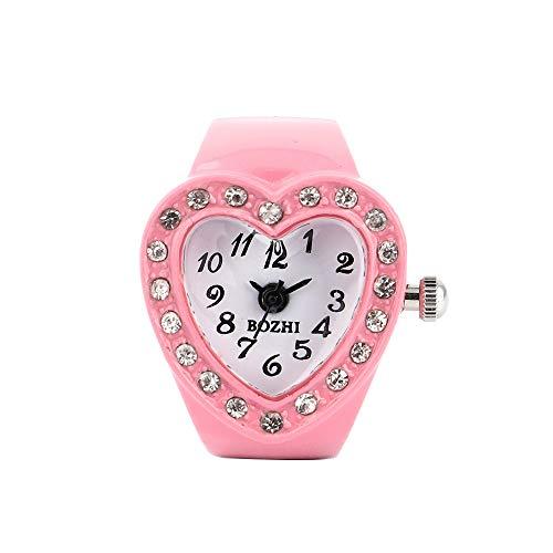 Wrist Watches for Women Under 5 ❤ Women Heart Ring Watch Watch Finger Table Elastic Quartz Watch